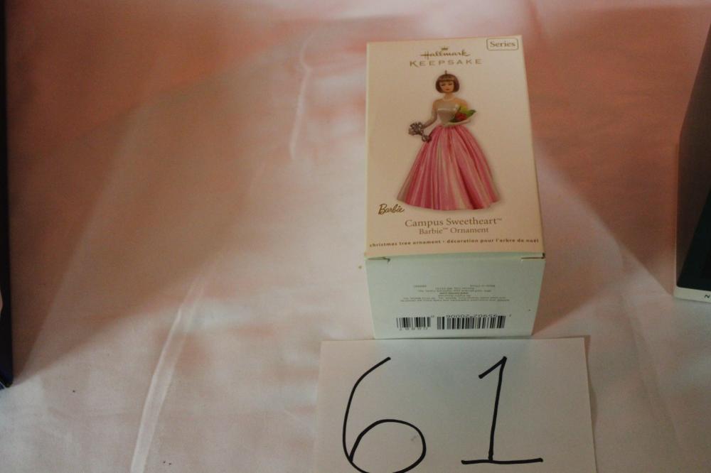 Barbie Christmas Ornament.3 Hallmark Keepsake Barbie Christmas Ornaments