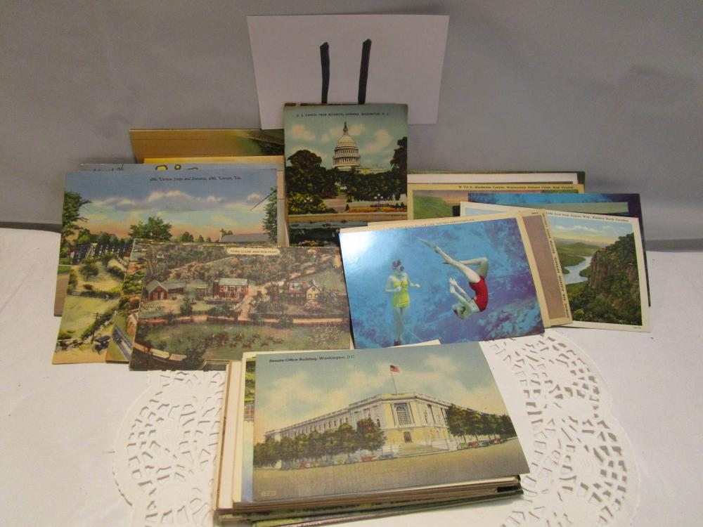 Large lot of Older Postcards