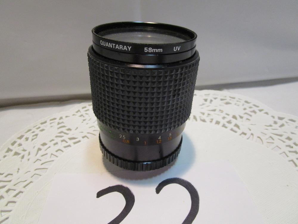 Quantaray 58 mm UV Camera Lens