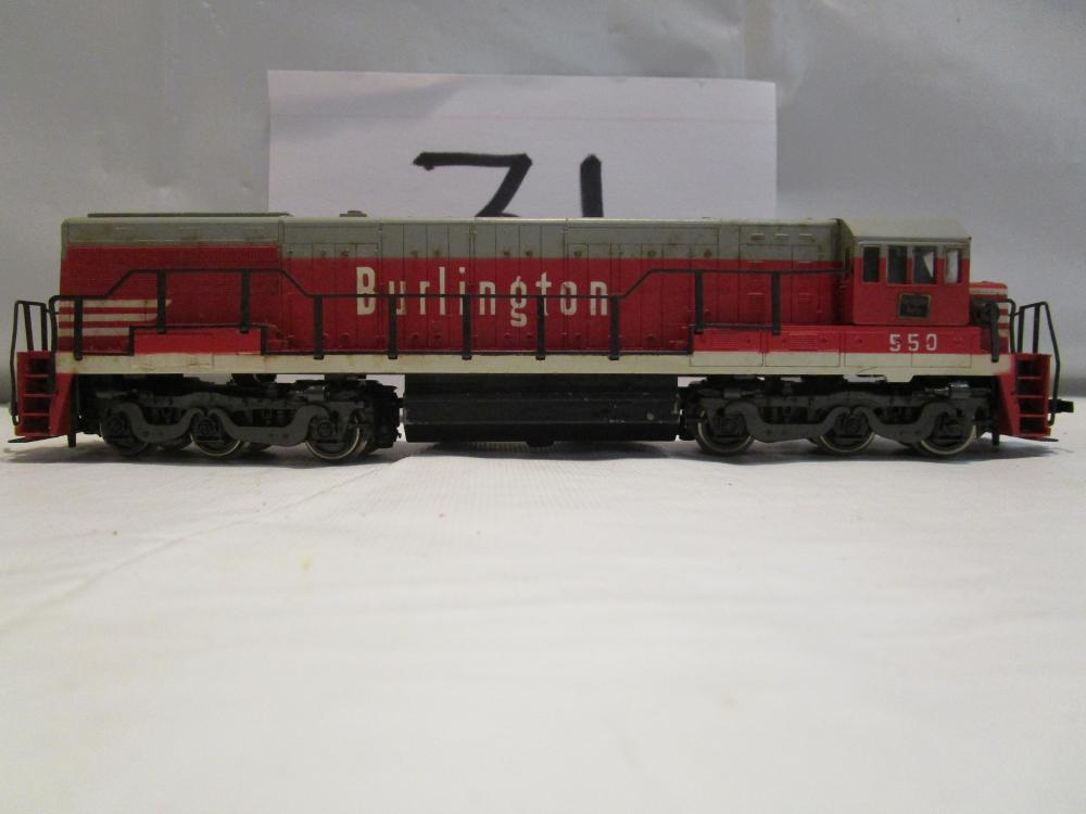 Ruarossi HO Scale Burlington Train Engine #550