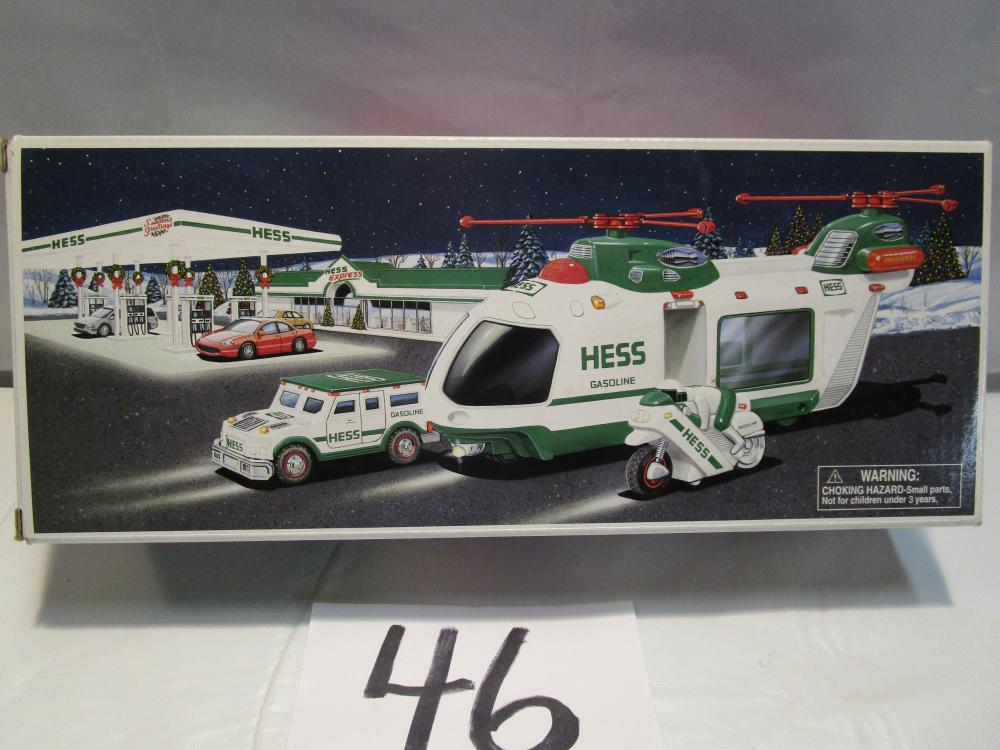 Hess Helicopter with Motorcycle and Cruiser in the Box
