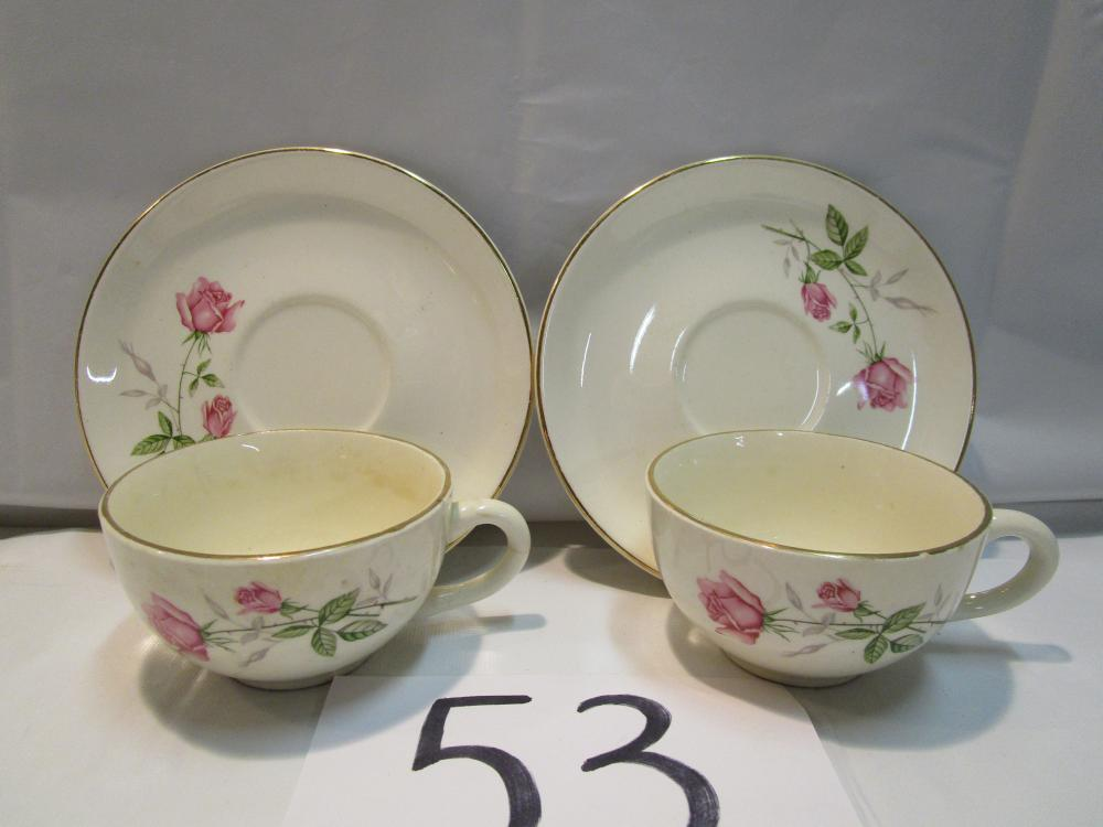 Floral Rose Saucer Tea Cup Set