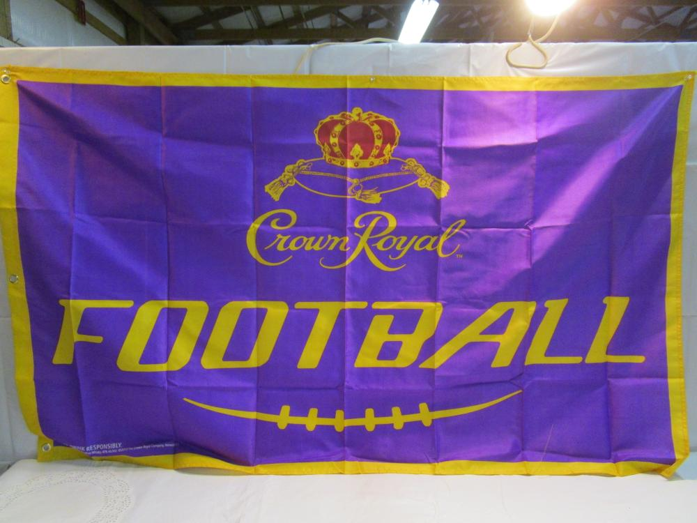 "Crown Royal ""Football"" Flag 5 Ft. Long"
