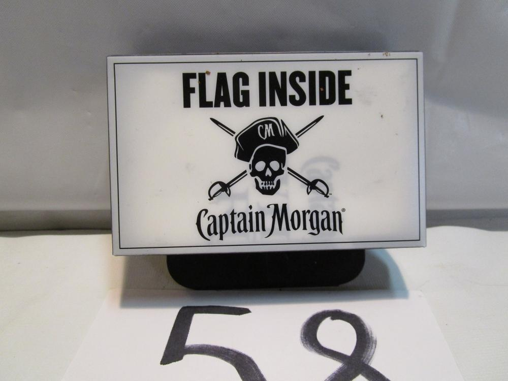 "Captain Morgan White Rum Advertising Flag 18""X12"" Antenna Flag"