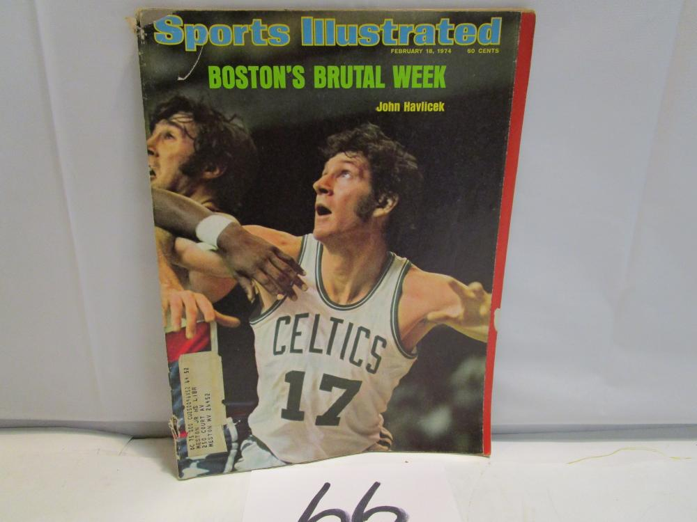 1974 Sports Illustrated John Havlicek Magazine