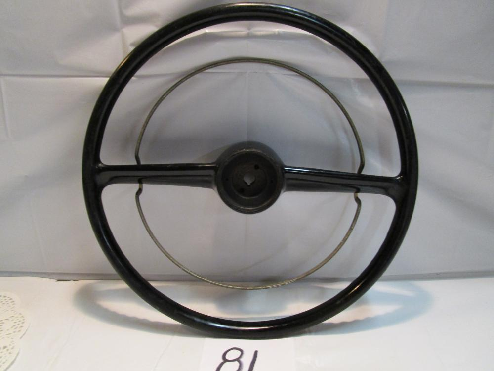 Vintage 1951 Mercury Steering Wheel With Horn Ring