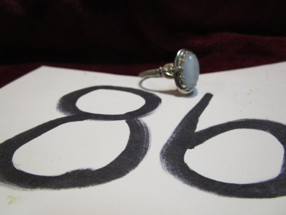Sterling Silver size 9 Moonstone Ladies Ring