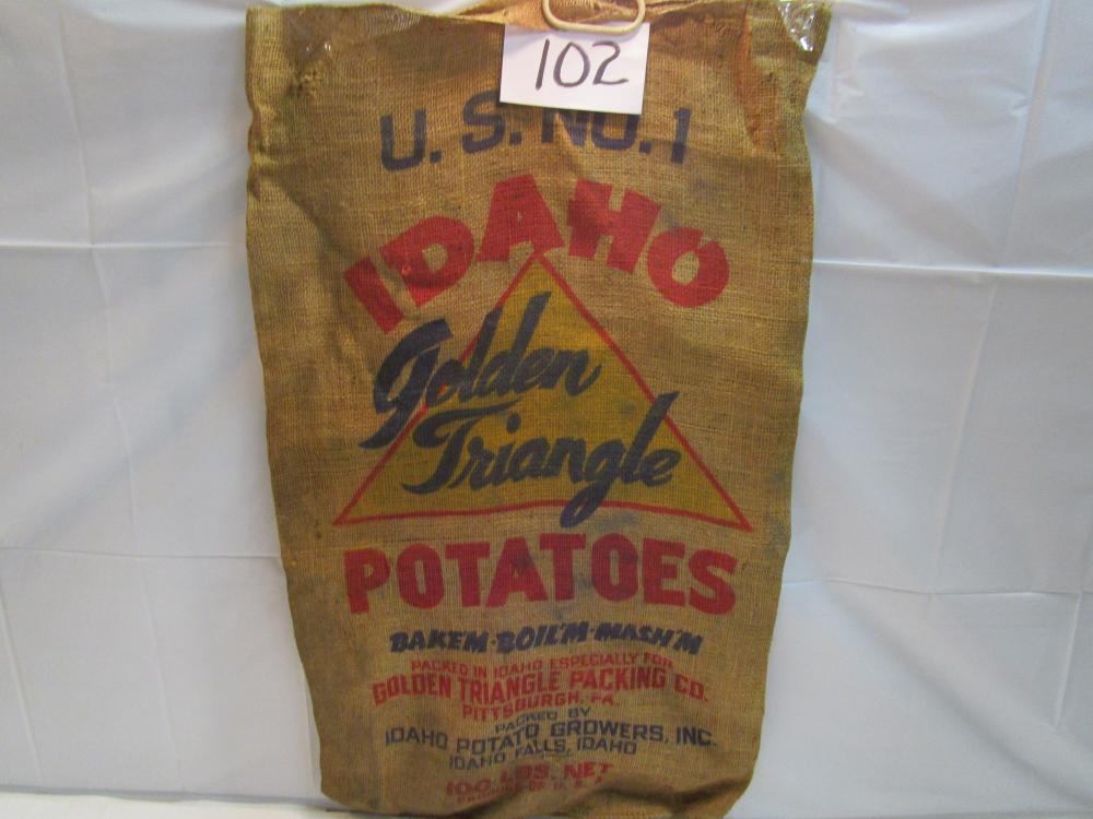 Idaho Golden Triangle  Potatoes Burlap Sack