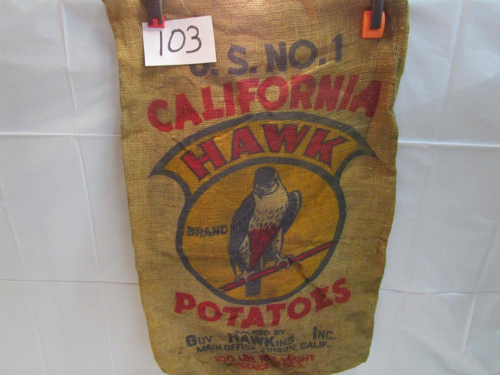 California Hawk Potatoes 100 Lb. Burlap Sack