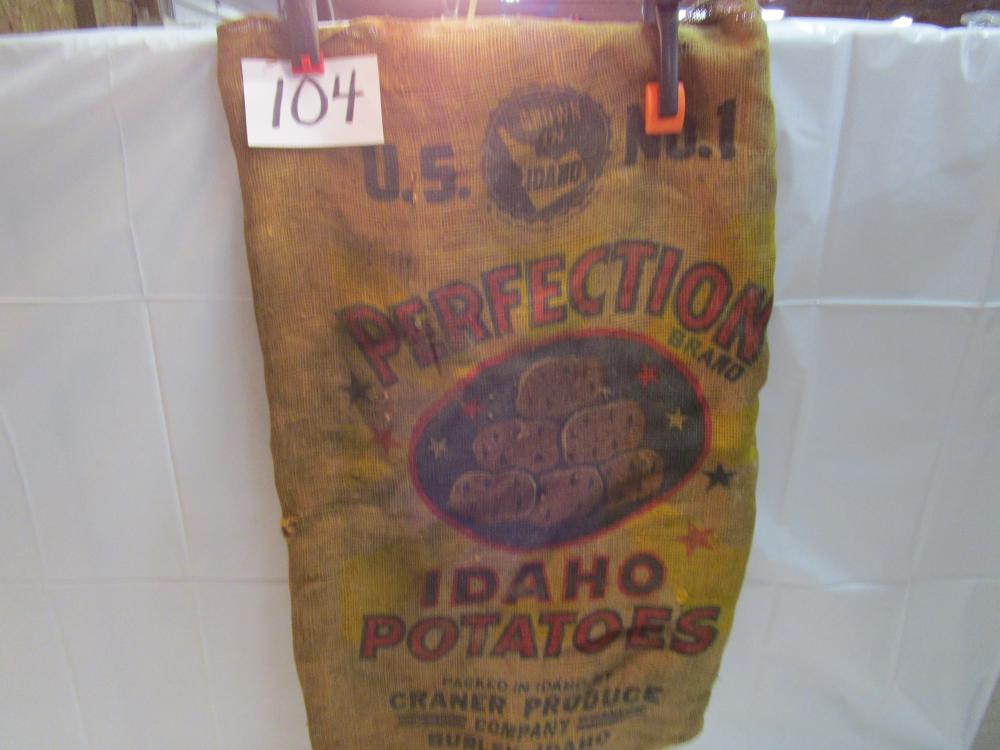 Perfection Brand Idaho Potatoes Burlap Sack