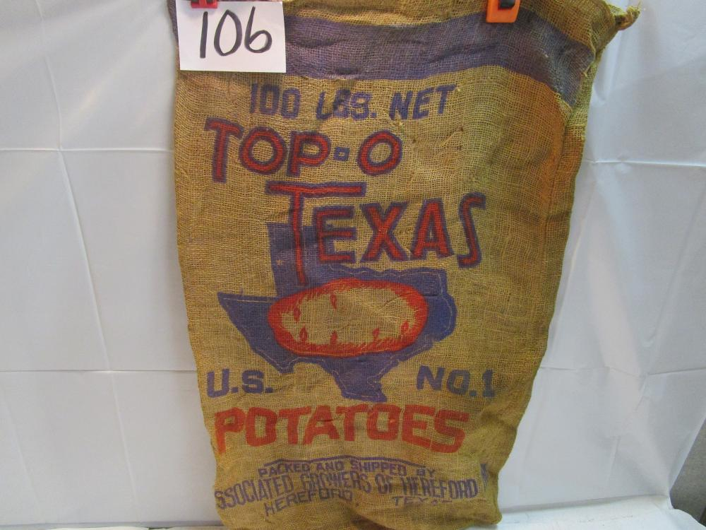 Top-O Texas Potato Burlap Sack