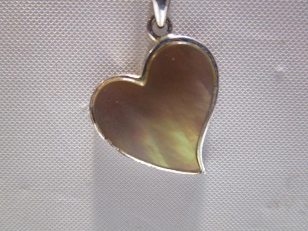 Women's Abalone Sterling Silver Necklace