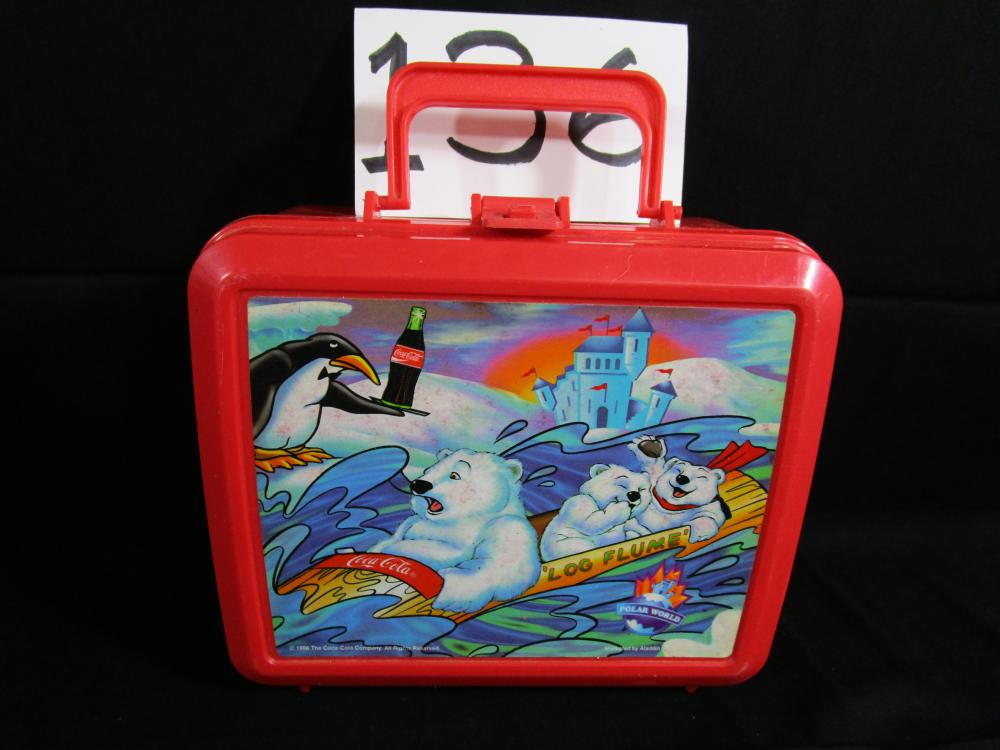 "1996 Coca Cola Polar World Lunchbox ""NO THERMOS"""