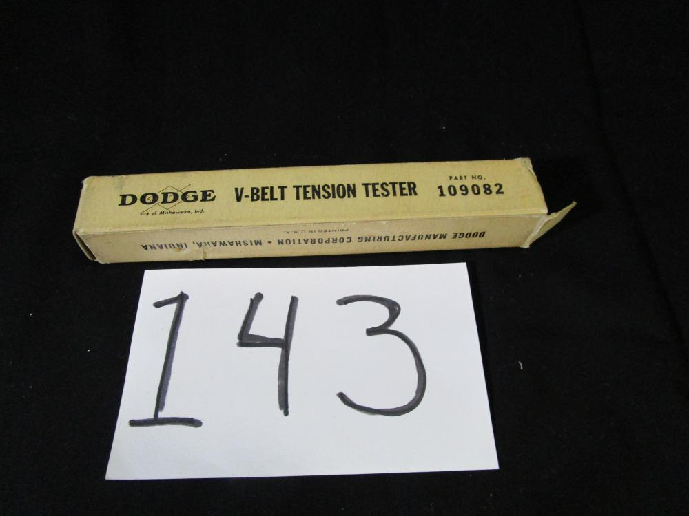 Dodge V-belt Tension Tester Part no. 109082 in box