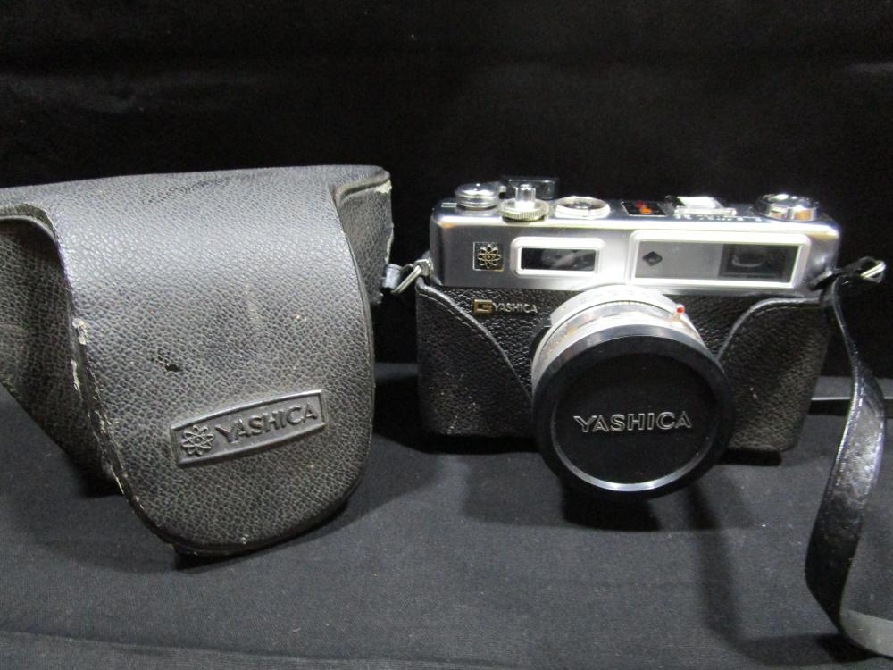 Yashica Electro 35 Camera in Leather Case