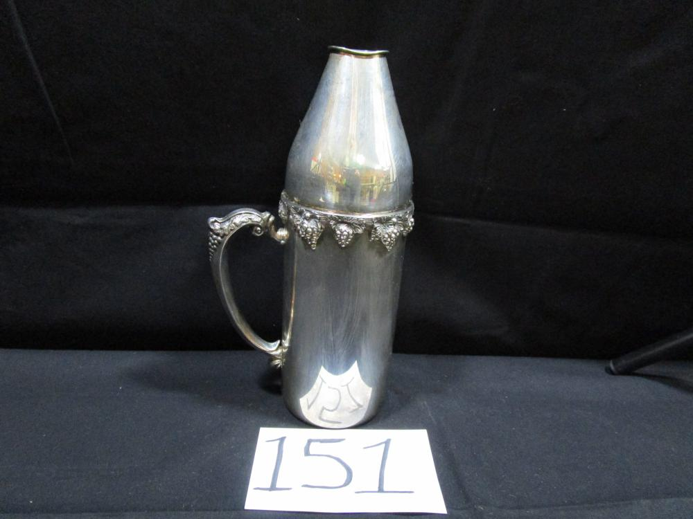 F.B. ROGERS 2 PIECE Silver Plated Wine Bottle Carrier