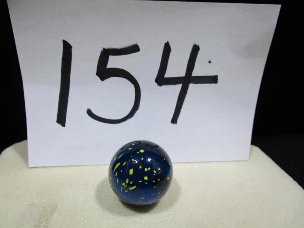 Vintage Large Marble Blue and Yellow Speckled