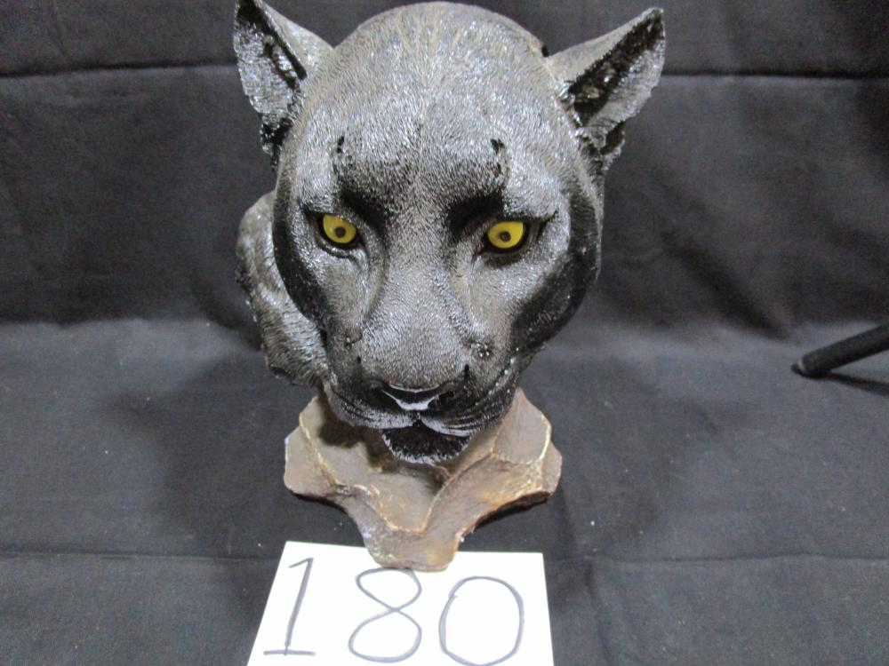 Large Dwk Plastic Bust of a Black Panther