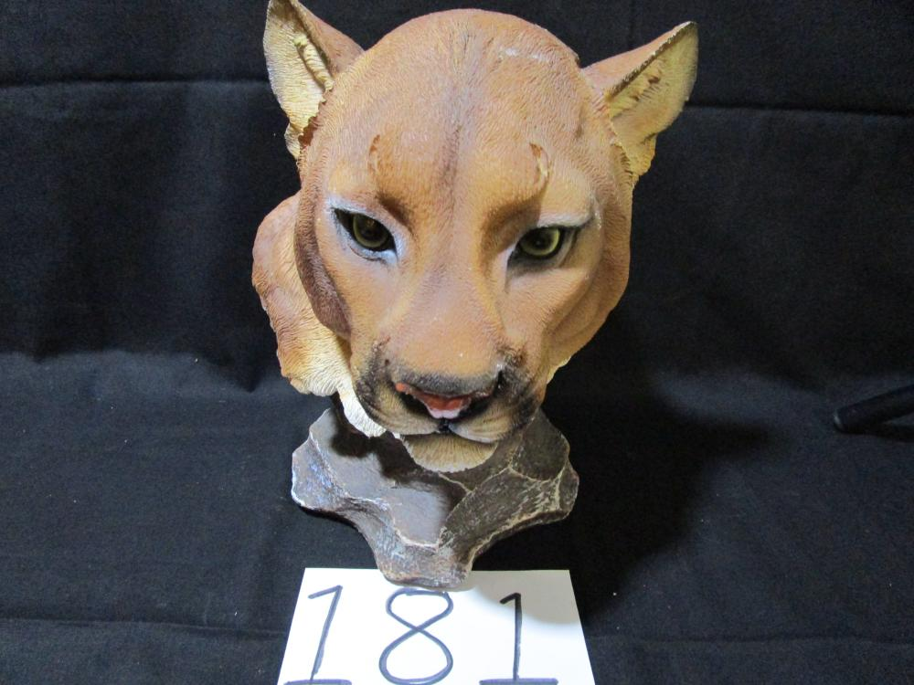 Large Dwk Plastic Bust of a Cougar