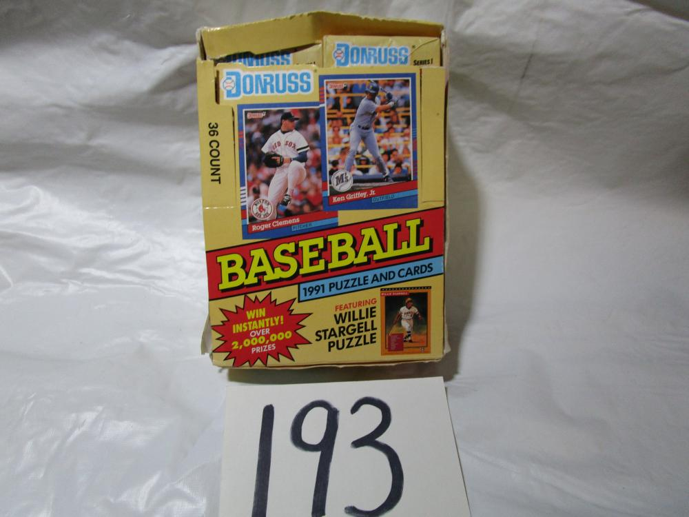 35 Packs of 1991 Donruss Series 1 Baseball Cards