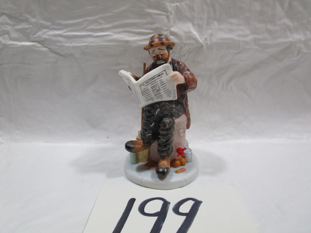 Limited Edition Pocelain Clown Figurine