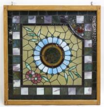 STAIN GLASS JEWELED PANEL