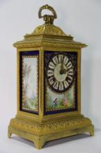 FRENCH ANTIQUE BRONZE CLOCK