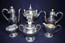 BARBOUR-INTERNATIONAL STERLING SILVER TEA SERVICE