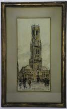 1897 BRUGES BRUSSELS BELGIUM CATHEDRAL PAINTING