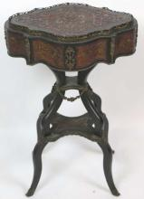 FRENCH BOULLE ANTIQUE SIDE TABLE / PLANTER