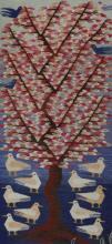EGYPTIAN KILIM TREE OF LIFE HAND WOVEN TRIBAL RUG