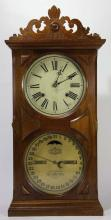 ITHACA CALENDAR CLOCK COMPANY ANTIQUE CLOCK