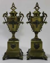 BRONZE ANTIQUE PAW FOOT CLASSICAL URNS