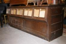 AMERICAN OAK COUNTRY STORE SEED BIN STORE COUNTER