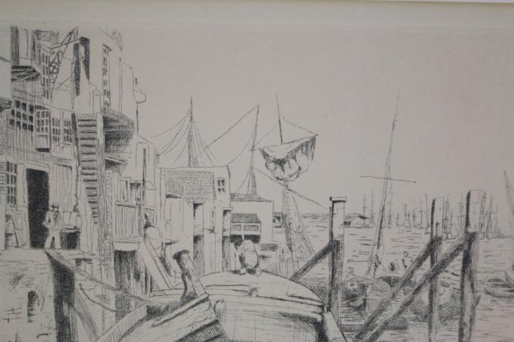 MICHEAL L. THOMAS 5/50 WHISTLER STUDY ETCHING