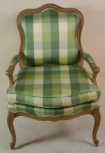 FRENCH CUSTOM UPHOLSTERED DOWN CUSHION BERGER