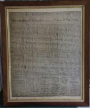 US ANTIQUE DECLARATION OF INDEPENDENCE