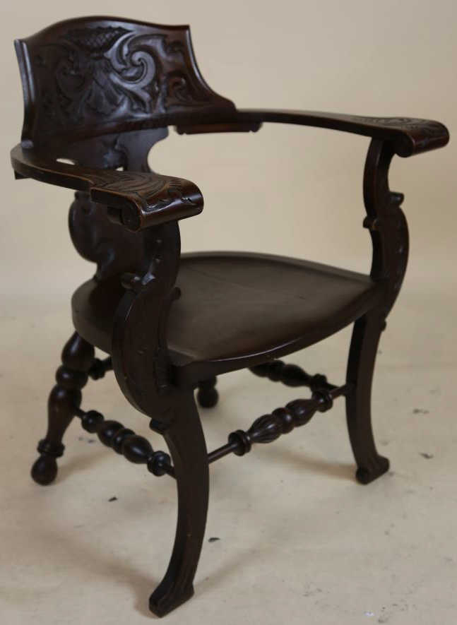 American Carved Oversized Armchair