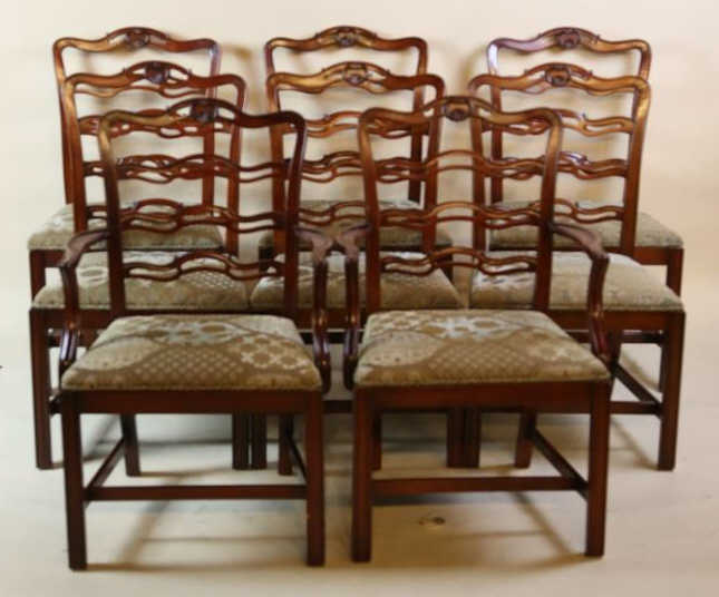 ribbon back set of 8 dining chairs