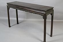 CHINESE 19TH C. CARVED TABLE