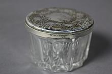 STERLING LARGE LADIES DRESSER JAR