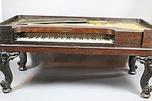 STEINWAY 1853 ROSEWOOD SQUARE GRAND PIANO