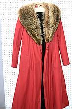 VINTAGE RED FOX LINED FUR COAT