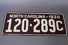 NC 1930 CLASSIC CAR TAG