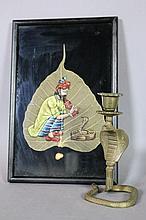 PERSIAN TOBACCO LEAF & COBRA CANDLE STICK