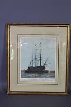 THREE MAST CLIPPER SHIP PRINT