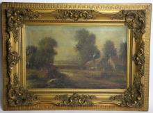 19TH C. LANDSCAPE ON CANVAS