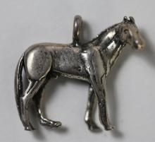STERLING SILVER EQUESTRIAN HORSE CHARM
