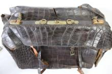 VINTAGE LARGE CROCODILE ATTACHE TWIN SIDED CASE