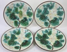 FRENCH MAJOLICA ANTIQUE PLATE GROUPING